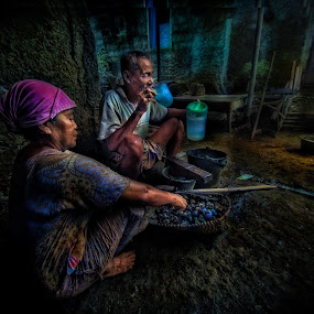 together forever by Dian Anugrah - People Couples ( old, life, color, drink, poor, live )