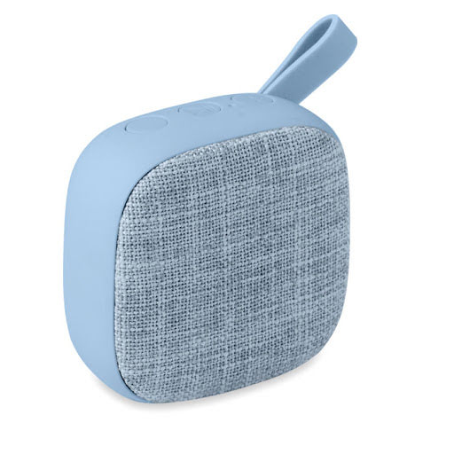 Square Fabric Covered Bluetooth Speaker with rubber backing
