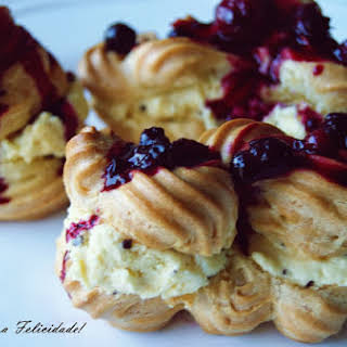 Cream Puffs Filled with White Chocolate Mousse.
