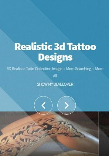 リアルな3Dタトゥーのデザイン