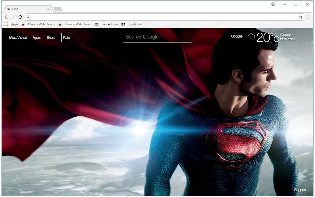 Superheroes HD Wallpaper Superhero New Tab
