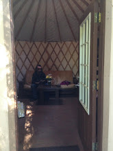 Photo: We got the 16 foot yurt that sleep 6 so we got to spread out.