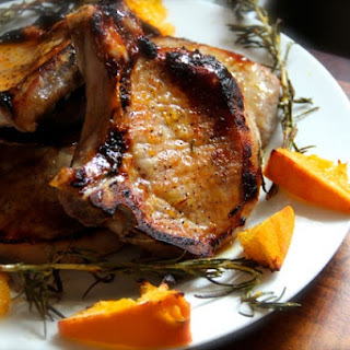 Pork Chops with Orange & Honey Glaze.