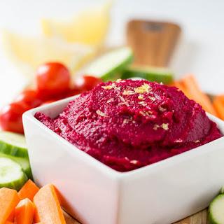 Roasted Beet Hummus - Vegan + Gluten-free