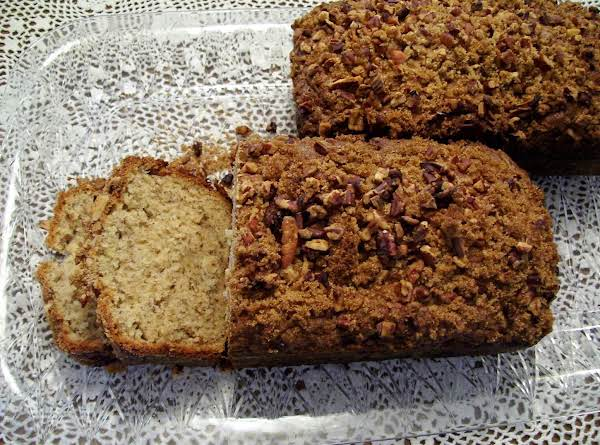 This Photo Is Made With This Recipe Only I Did Not Layer The Pecans And Brn Sugar As I Forgot To Do That. When I Made This One. The Pecans And Brn Sugar Are Only On The Top Of These Loaves. Recipe Makes (2) Loaves