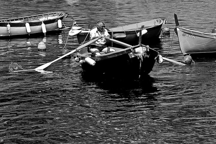 L'uomo e la barca di funakoschi