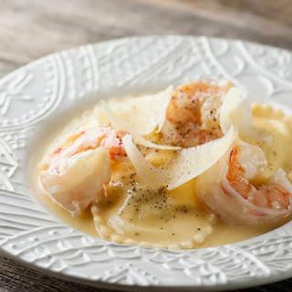 Shrimp Scampi Ravioli.