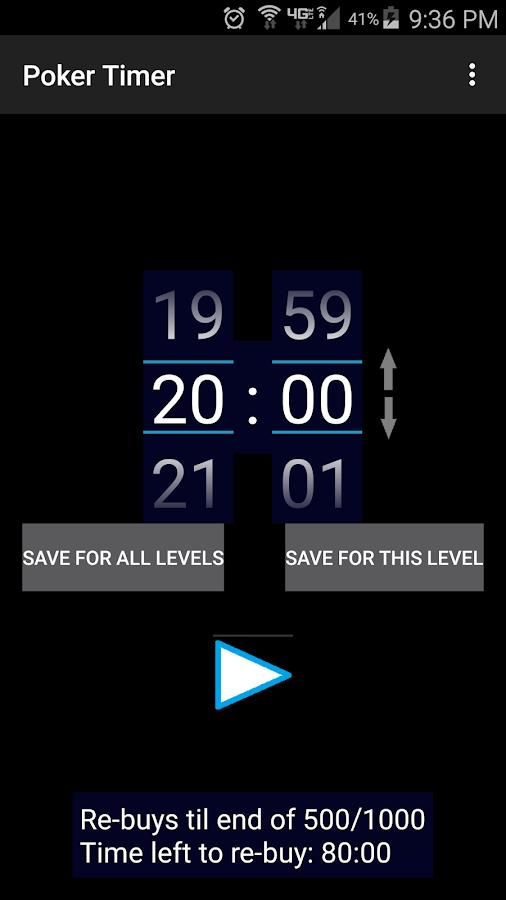 Poker tournament timer software