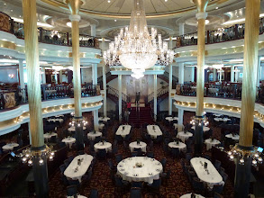 Photo: 3 levels of formal dinning rooms. The lowest is reserved before boarding.