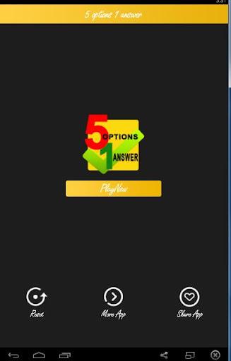 5 options 1 answer