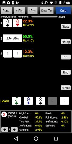 PokerCruncher - Advanced - Poker Odds Calculator Screenshot
