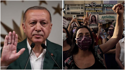 As Islamism grows, Turkey pulls out of treaty that aimed to prevent violence against women because it 'promotes divorce', women protest