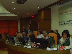 Photo: Com. S.l. Reddy, CHQ President giving vote of thanks