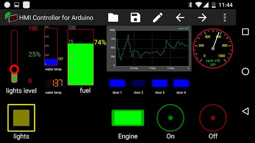 Hmi controller for arduino app android
