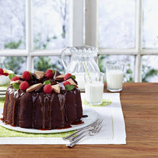 Chocolate and Coffee Bundt Cake with Chocolate Nougat and Chocolate Caramel Sauce.