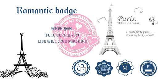 Romantic Badge-Solo Theme
