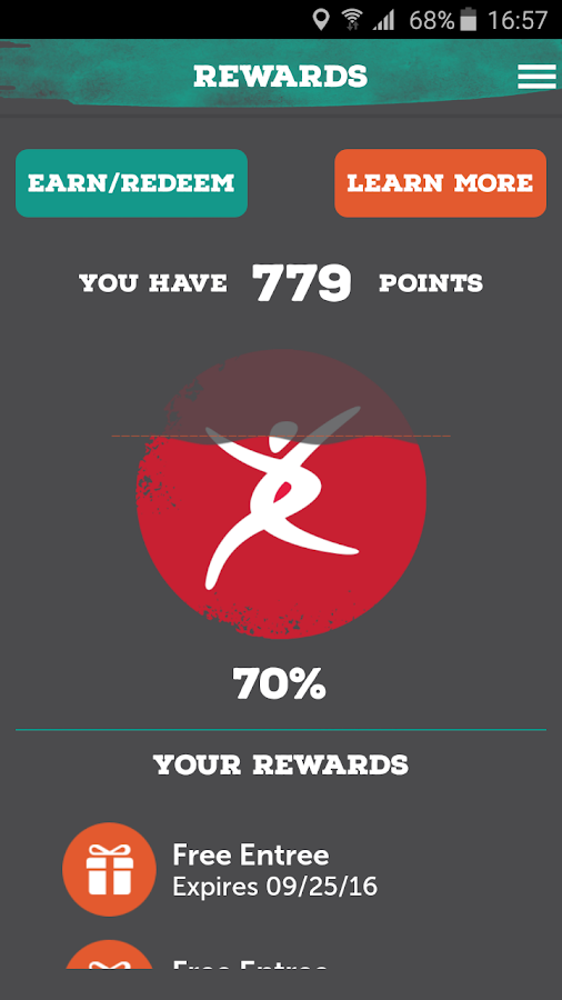 Pei Wei Rewards- screenshot