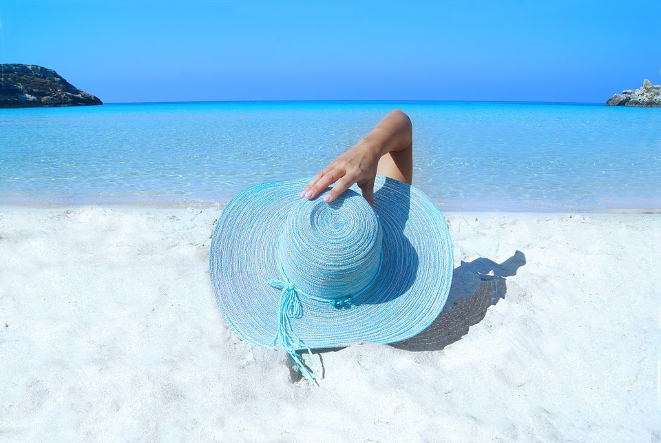 ファッション, モデル, ビーチ, 帽子, 砂, 海, ポーズ, 肖像画, グラマー, 女性, エレガンス