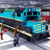 Train Mechanic Repair Shop 3D
