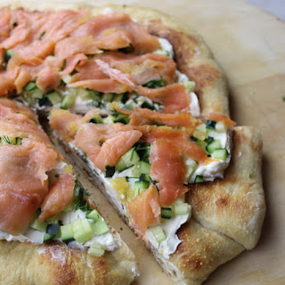 Pizza with Smoked Salmon & Caviar