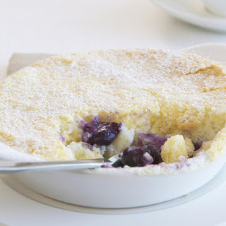 Lemon and Blueberry Pudding Cakes