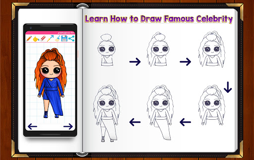 Learn How to Draw Chibi Famous Celebrities 1.2.2 screenshots 8