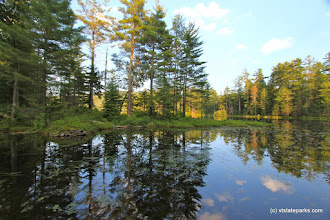 Photo: Reflections at Lowell Lake State Park by Lene Gary