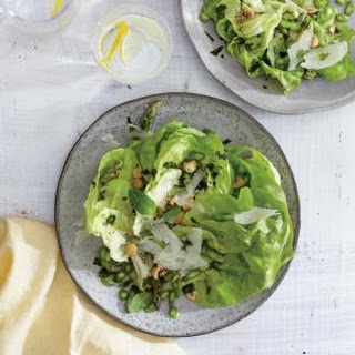 Butter Lettuce, Asparagus, and Hazelnut Salad.