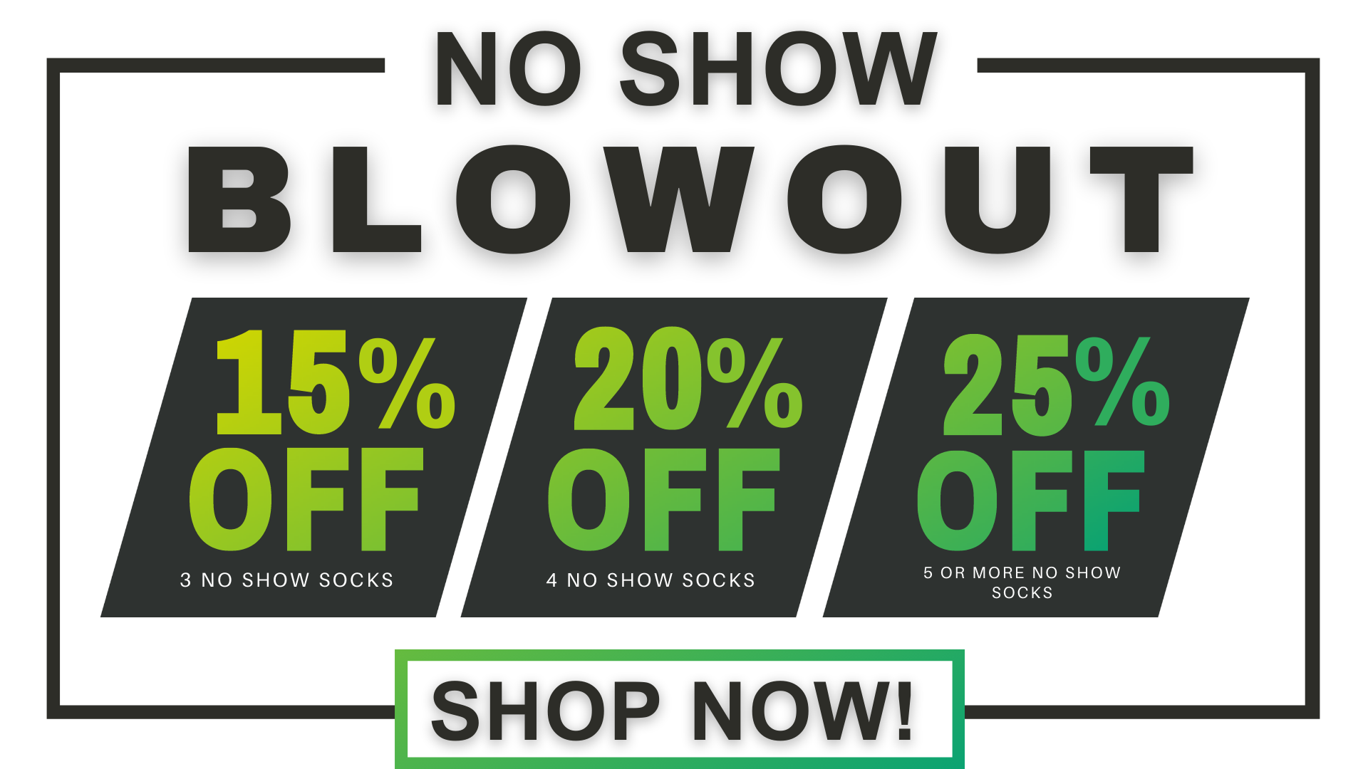 Buy more save more on compression no-show socks