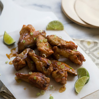 Hot Honey Lime Chicken Wings.
