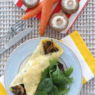 Mushroom and Pesto Filled Omelet