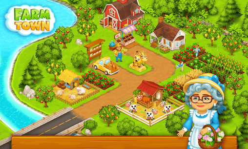 Farm Town: Happy farming Day & food farm game City 5