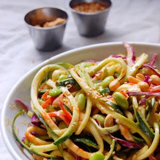 Saucy Peanut Zucchini Noodle Salad