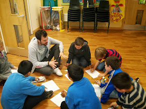 Photo: London, UK - Googlers spent a morning with the kids of the Singlegate Primary School in London. They delivered a funny presentation on the history of the Internet and the world of Google. Afterward, the kids took part in a Doodle drawing competition and seven lucky students won Google prizes.