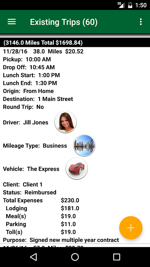 Track My Mileage Unlimited- screenshot