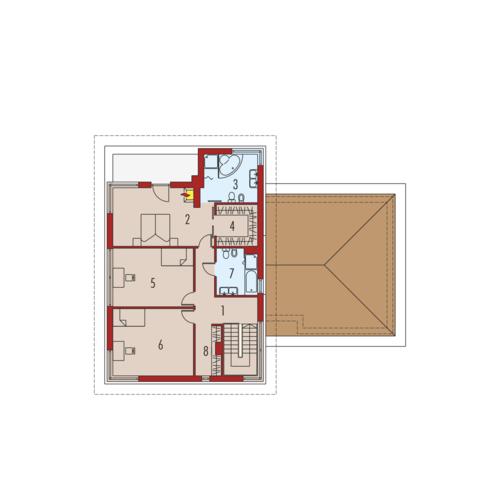Diego G2 Leca® Dom - Rzut piętra