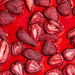 Oven-Dried Strawberries.