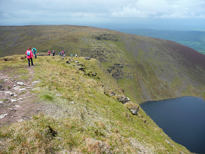 Photo: Above Lake Curra on the Aherlow Festival B walk, Saturday, June 1st, 2013, Black Road to Clydagh Bridge via Galtymore. Leader Paddy Bourke.