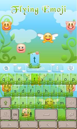 Flying Emoji GO Keyboard Theme 3.87 screenshot 662630