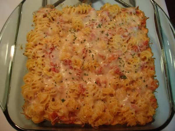 Here's A Photo Of This Casserole Made With Creamette's Radiatore Pasta. (i Cooked The Pasta For 10 Minutes.)