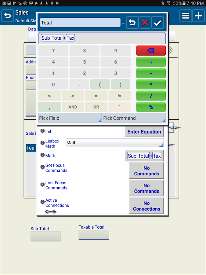 SailformsPro Relational DB- screenshot