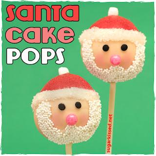 Supplies for Santa Christmas Cake Pops