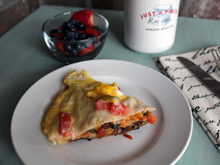 Southwest Breakfast Frittata Quesadilla Recipe