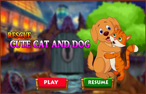 Best Escape Games 172 - Rescue Cute Cat and Dog screenshot 2