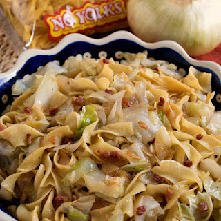 Haluski (Fried Cabbage and Noodles).
