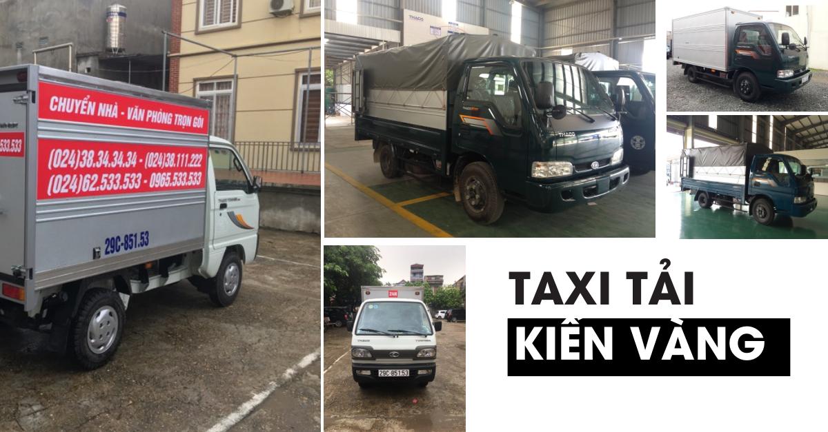 Taxi tải, xe tải giá rẻ chỉ từ 149K/4Km Kiến Vàng tại Hà Nội