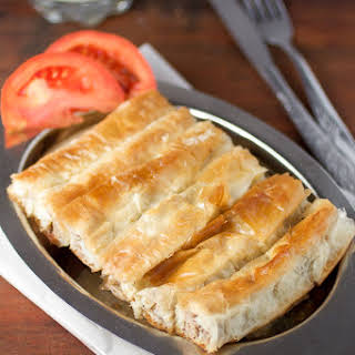 Ground Beef and Potato Pie with Phyllo Recipe (Slagani Šareni Burek).
