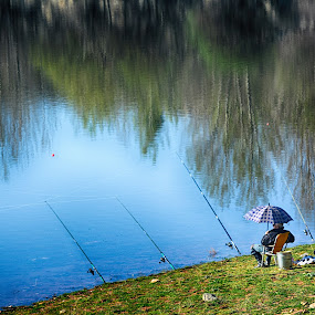 Fisherman by Katerina Mavrovska - Landscapes Waterscapes