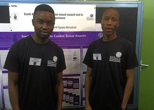 Students Ngoako Monyebodi and Refilwe Semenya have created an app to combat sexual assault on Wits University's campuses.