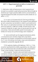 Screenshot of Nuovo Codice della Strada